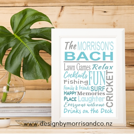 Bach or Beach House WallArt