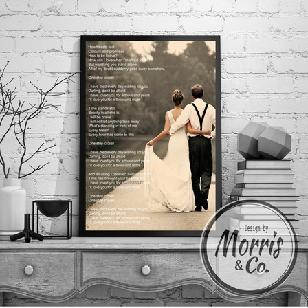 Wedding Song/Vow Print