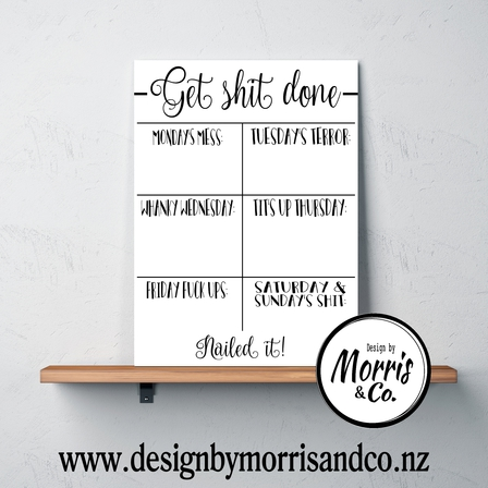 Get Shit Done Printable