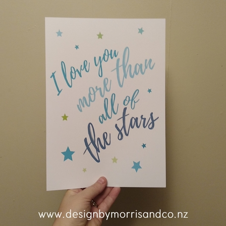 I love you more than all the stars!