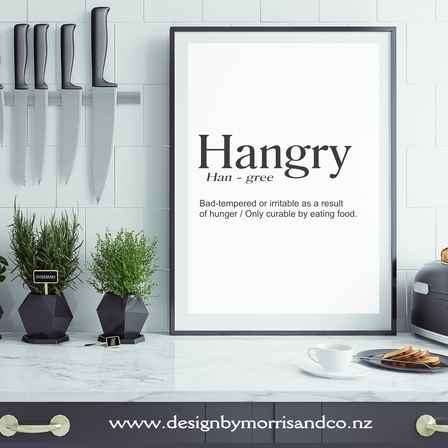 HANGRY Kitchen Print