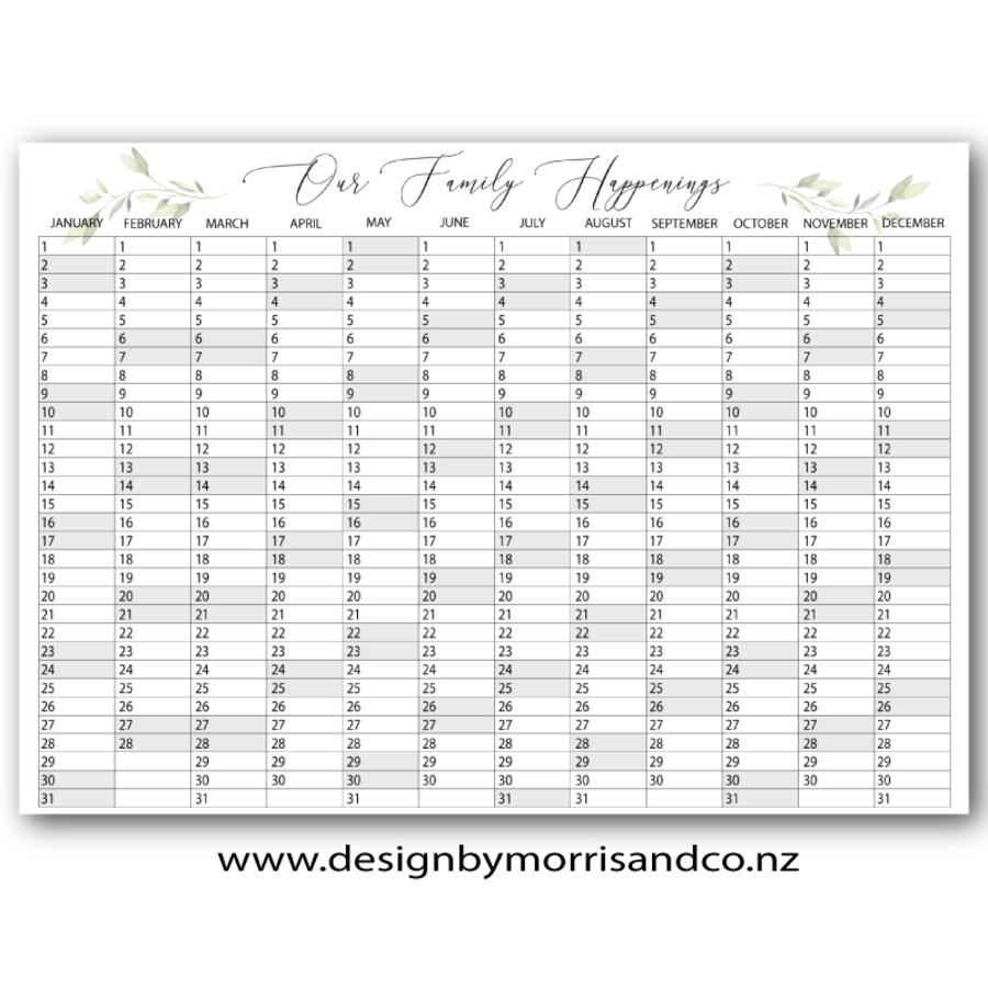 Greenery 2021 Wallplanner